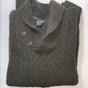 Wallin & Bros Mock Neck Sweater Men XXL Lambswool